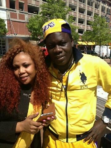 Aminata Poté pose avec l'ex copain d'Aida Patra!!!