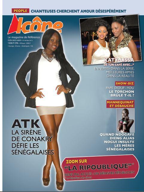 Voici la couverture de Icône Magazine