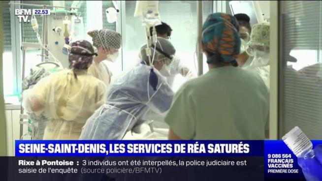 Seine-Saint-Denis: à l'hôpital de Montreuil, tous les lits en réanimation sont occupés par des patients Covid-19