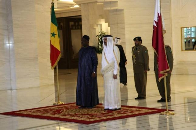 [PHOTOS] Le Président de la République Macky Sall à la résidence de l'Emir du Qatar