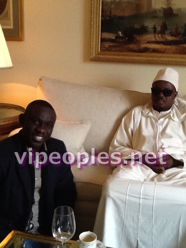 """Pape Diouf fait du """"Ziar"""" chez Cheikh Bassirou Abdou Khadre"""