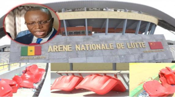 Urgent le ministre des sports Matar Ba très en colère et menace les jeunes qui ont saccagé l'arène