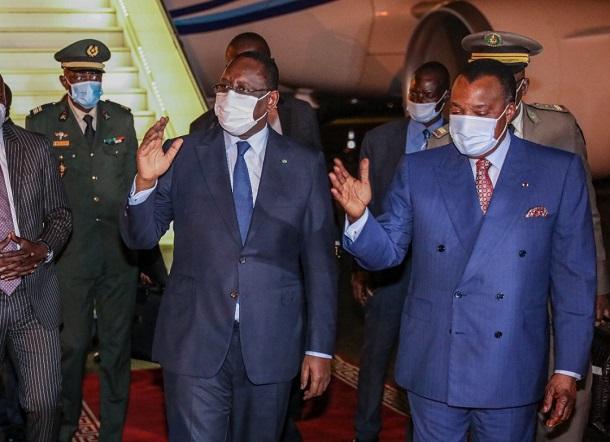 Le Chef de l'Etat Macky Sall à Brazzaville : les images de son arrivée à ce mercredi, en début de soirée