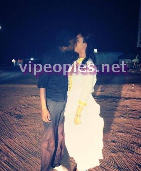 Le baiser langoureux des nouveaux mariés, Léa et Ibou Kara!