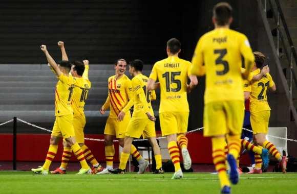 Espagne: Barca étrille Bilbao et s'offre la Coupe du Roi