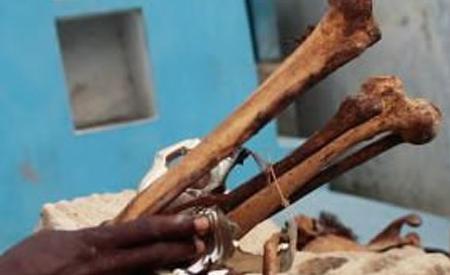 Mineurs et trafiquants d'ossements