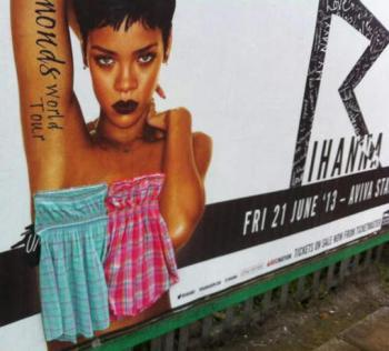 Rihanna «rhabillée» sur ses affiches de concert