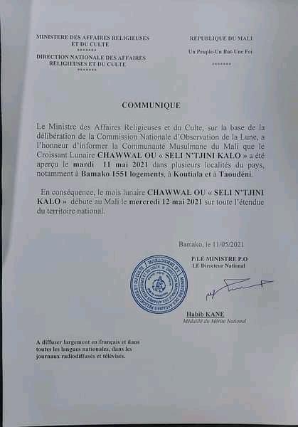 Korité 2021: La Côte d'Ivoire et le Mali célèbrent l'Eid El Fitr ce mercredi
