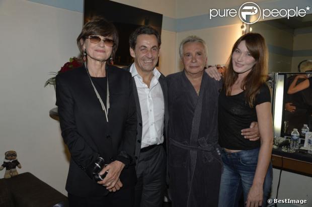 Carla et Nicolas Sarkozy: Heureuses retrouvailles avec Michel Sardou et sa femme
