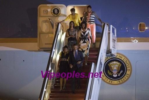 Les premières images de l'arrivée du président Barack Obama à Dakar