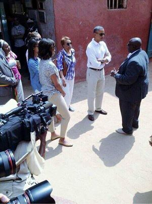 [PHOTOS] Les Obama à Gorée, un moment fort