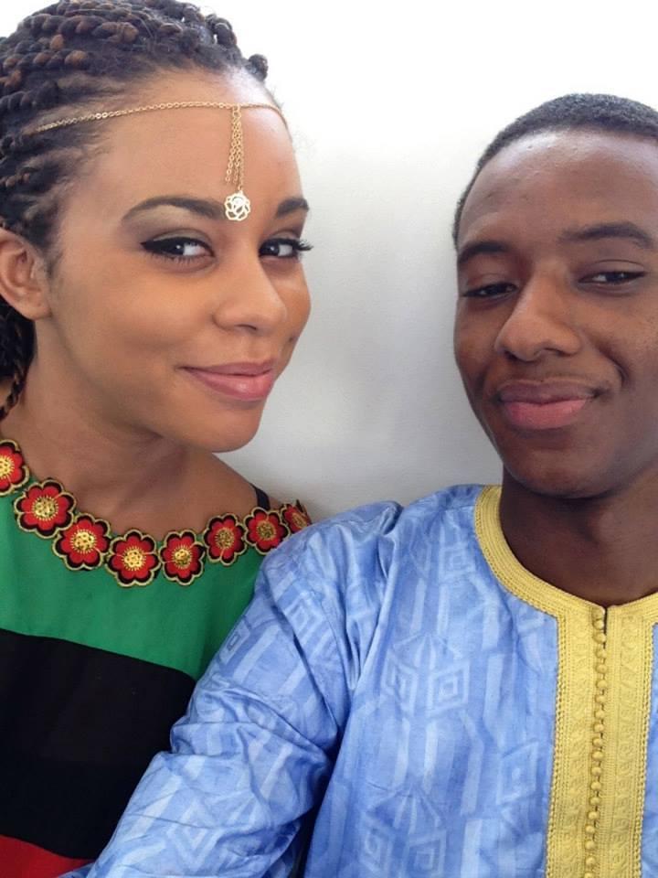 Le couple heureux: Ibou Kara Mbacké et son épouse Léa Mbacké