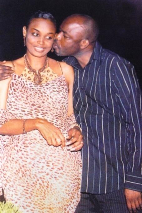 Mansour Guissé et son ex femme Fabienne Féliho au bon vieux temps