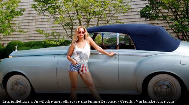 Beyoncé : une Rolls Royce en cadeau pour fêter le 4 juillet