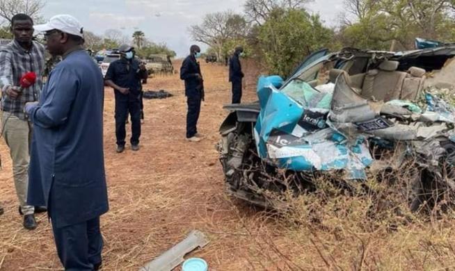 Décès de 3 reporters de LERAL: Sur les lieux de l'accident, Macky Sall présente ses condoléances (Vidéo)