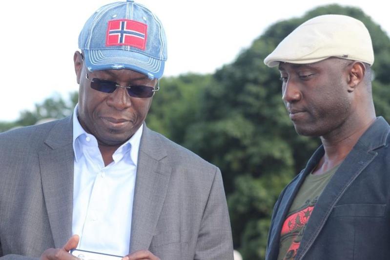 L'ex Ministre Souleymane Ndéné Ndiaye et Yelly Fall, organisateur de spectacles