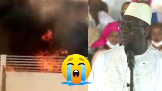 La maison de son pére incendiée, Macky Sall parle à la population