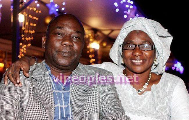 Voici les parents de Jacques et Mame Khoudia du groupe Takeifa, le commissaire Keita et sa femme
