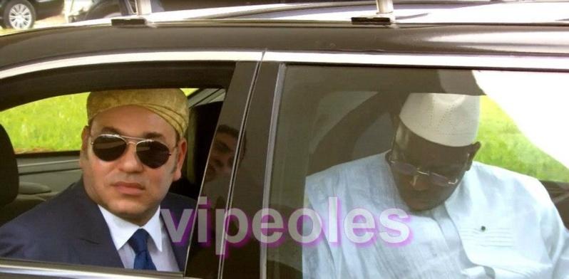 Le président sénégalais, Macky Sall, et le Roi Mohammed VI, à Dakar lors de la précédente visite du Souverain au Sénégal en mars dernier.