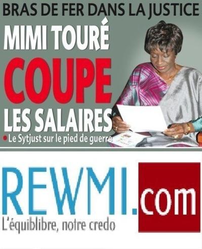 MOUVEMENTS D'HUMEUR DU SYTJUST Mimi Touré ponctionne les salaires des grévistes