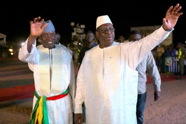 Retrouvailles avec son ancien ministre de l'Intérieur : de passage à Linguère, Macky accueilli par Aly Ngouille Ndiaye