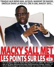 MANDAT DE NIASSE, MARCHES GRE A GRE, MACKY 2012… Macky Sall remet les pendules à l'heure