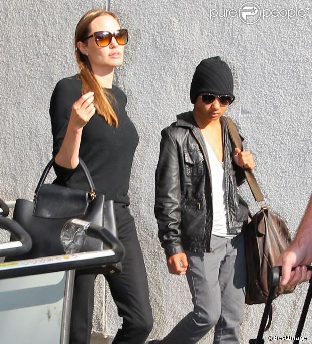 Angelina Jolie : Classe au côté de son fils Maddox, aussi stylé que son père