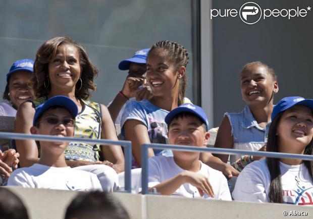 Michelle Obama et ses filles : Radieuses devant les stars du tennis mondial