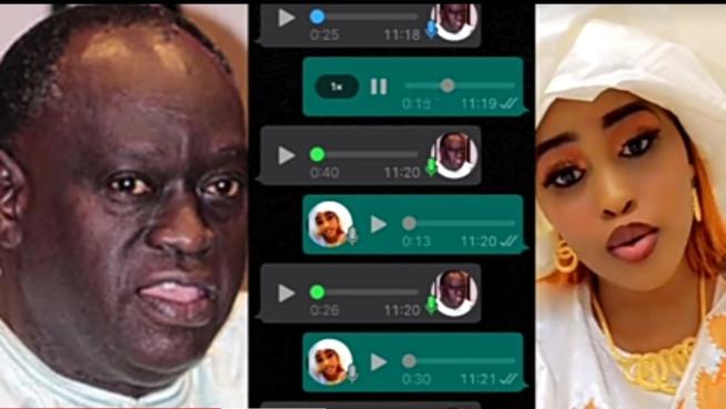 """Urgent les audios fuités entre Me EL Hadj Diouf et Adji Sarr kawtef '""""n'a ga accouché rek"""""""
