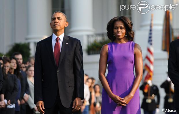 Barack Obama et Michelle : Emus pour l'hommage aux victimes du 11 Septembre
