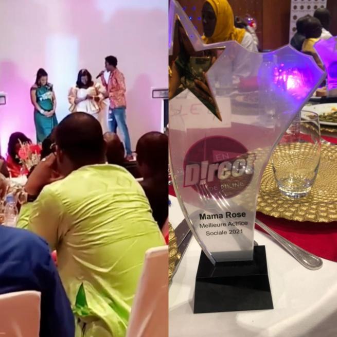 Waly Seck remet le trophée de la meilleure actrice social de la banlieue à Nd Mareme Diedhiou dit Mama Rose