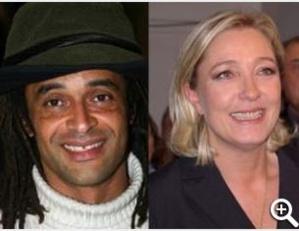 FRANCE- Marine Le Pen gagne face à Yannick Noah