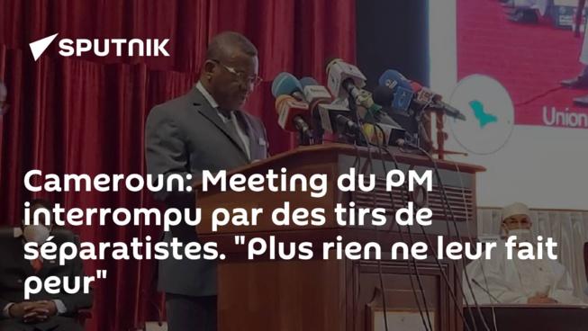 """Cameroun: Meeting du PM interrompu par des tirs de séparatistes. """"Plus rien ne leur fait peur"""""""