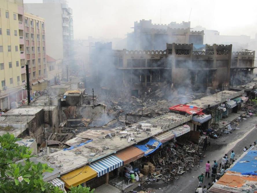 Après l'avertissement et la fermeture  du marché, Sandaga prend feu