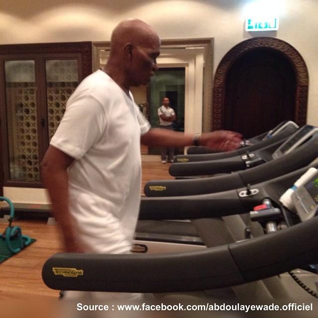 Abdoulaye Wade ne décourage jamais lorsqu'il s'agit de garder la forme!