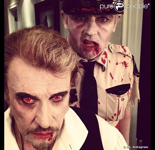 Laeticia et Johnny Hallyday : Une Cléopâtre sexy et son vampire pour Halloween !