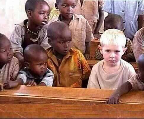 INSOLITE - Le blanc fait peur...