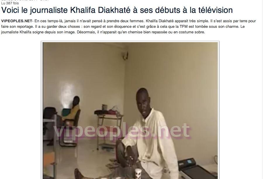DERNIERE MINUTE - Khalifa Diakhaté de la TFM menace  une journaliste