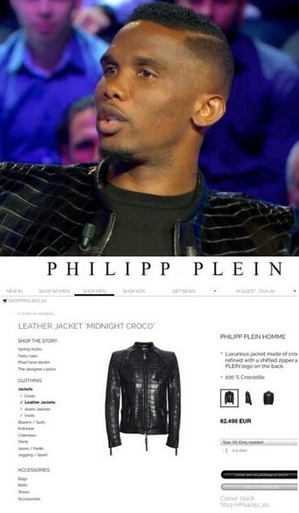 Samuel Eto'o et sa veste en croco qui coûte plus de 60 000€