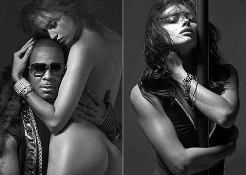 Irina Shayk nue dans les bras de R. Kelly pour V Magazine