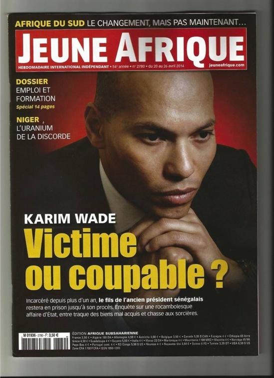« Jeune Afrique » consacre un numéro spécial sur l'affaire Karim Wade