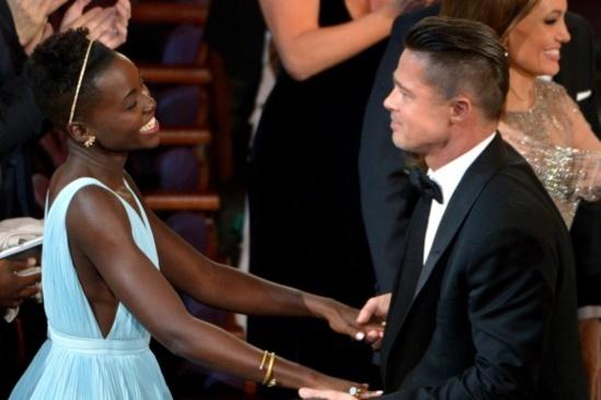 Brad Pitt se remémore de sa relation d'avec la belle Lupita Nyong'o , Angelina Jolie pique une crise de jalousie