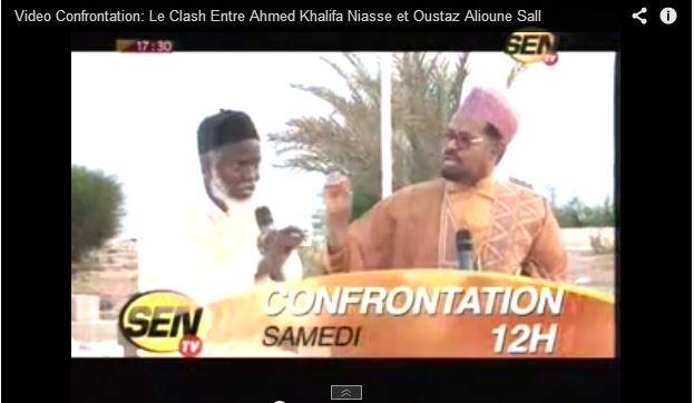 [Vidéo] Confrontation: Le clash entre Ahmed Khalifa Niasse et Oustaz Alioune Sall