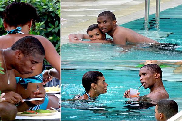 Photos: Samuel Eto'o s'est fiancé à sa compagne Georgette Tra Lou. Regardez.
