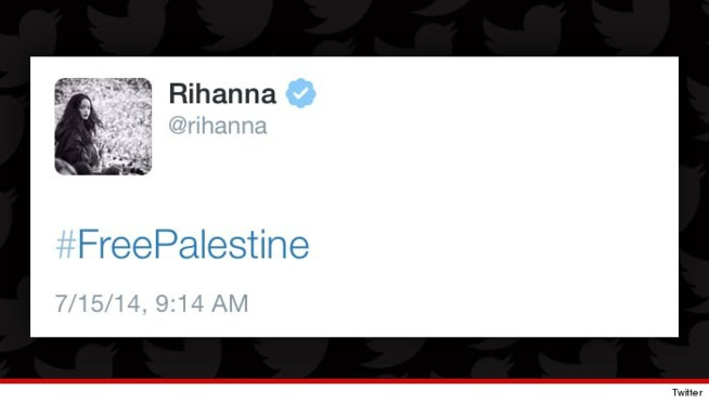 Rihanna: #FreePalestine, le tweet polémique.