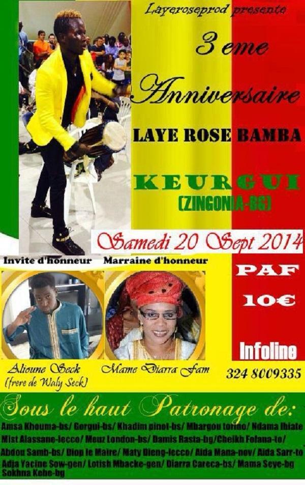 Layeproduction présente l'anniversaire de Laye Rose Bamba à Zingonia