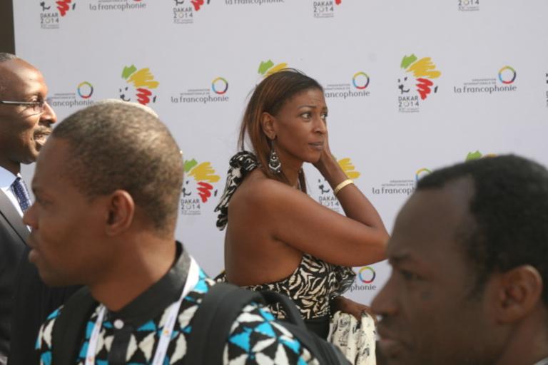 Yacine, la fille de Abdou Diouf, était présente au Sommet de la francophonie