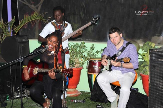 """La chanteuse Savana Soul en live avec sa bande """"Dental Diam"""""""