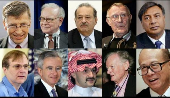 La liste des hommes les plus riches de l'année 2015, selon Forbes