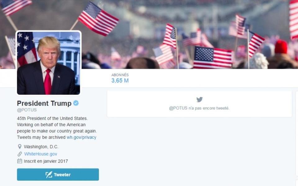 Twitter : le compte personnel d'Obama appartient désormais à... Donald Trum